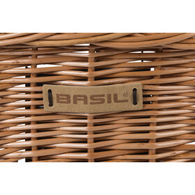 Basil Bremen Wicker Front Wheel Basket with Klickfix nature